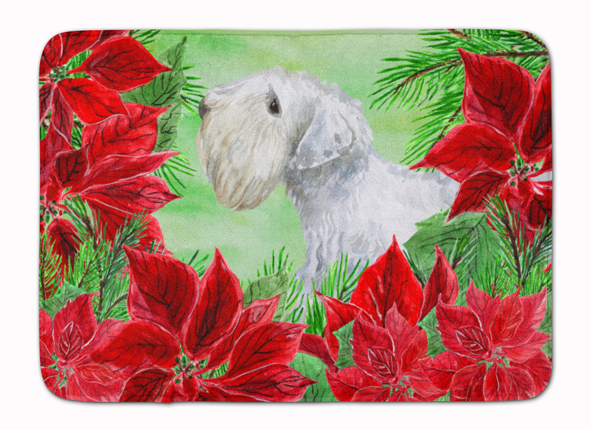 Buy this Sealyham Terrier Poinsettas Machine Washable Memory Foam Mat CK1332RUG