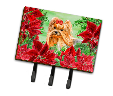 Buy this Yorkshire Terrier Poinsettas Leash or Key Holder CK1333TH68