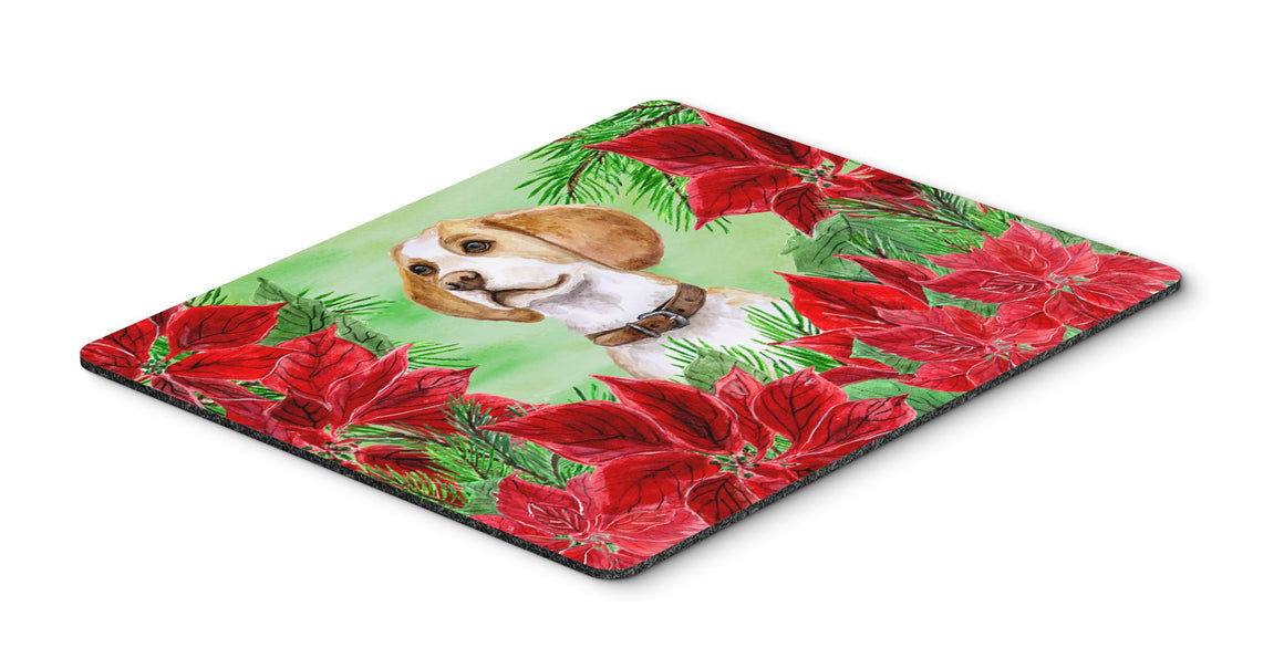 Buy this Beagle Poinsettas Mouse Pad, Hot Pad or Trivet CK1334MP