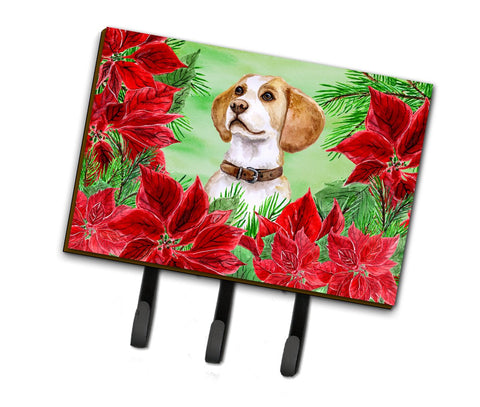 Buy this Beagle Poinsettas Leash or Key Holder CK1334TH68