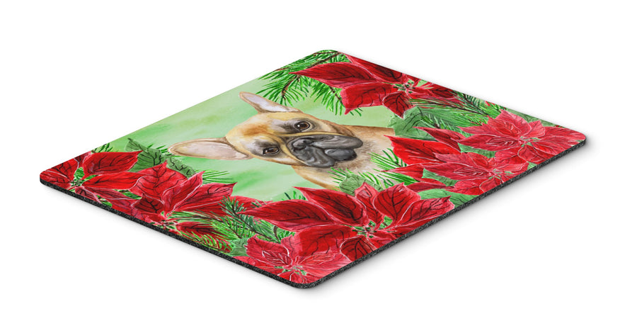 Buy this French Bulldog Poinsettas Mouse Pad, Hot Pad or Trivet CK1336MP