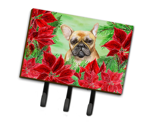 Buy this French Bulldog Poinsettas Leash or Key Holder CK1336TH68
