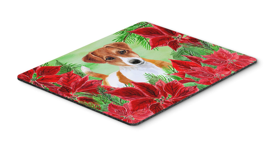 Buy this Jack Russell Terrier Poinsettas Mouse Pad, Hot Pad or Trivet CK1337MP