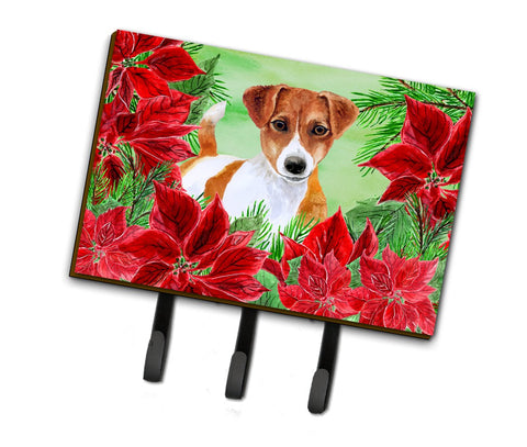 Buy this Jack Russell Terrier Poinsettas Leash or Key Holder CK1337TH68