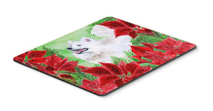 Buy this Samoyed Poinsettas Mouse Pad, Hot Pad or Trivet CK1339MP
