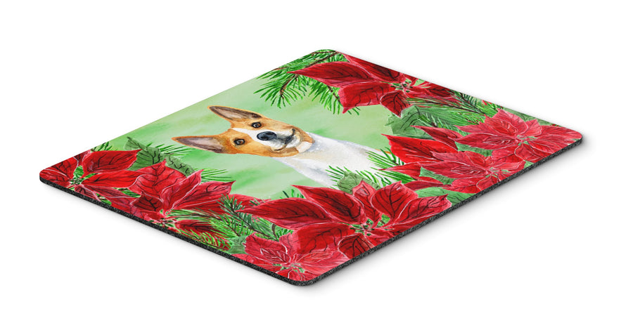 Buy this Basenji Poinsettas Mouse Pad, Hot Pad or Trivet CK1340MP