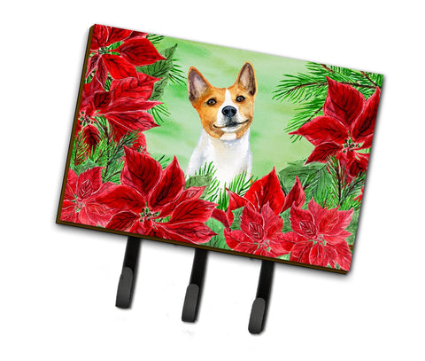 Buy this Basenji Poinsettas Leash or Key Holder CK1340TH68
