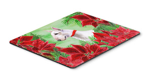 Buy this Bull Terrier Poinsettas Mouse Pad, Hot Pad or Trivet CK1341MP