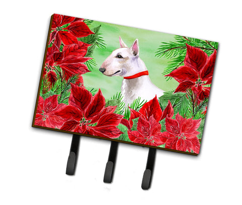 Buy this Bull Terrier Poinsettas Leash or Key Holder CK1341TH68