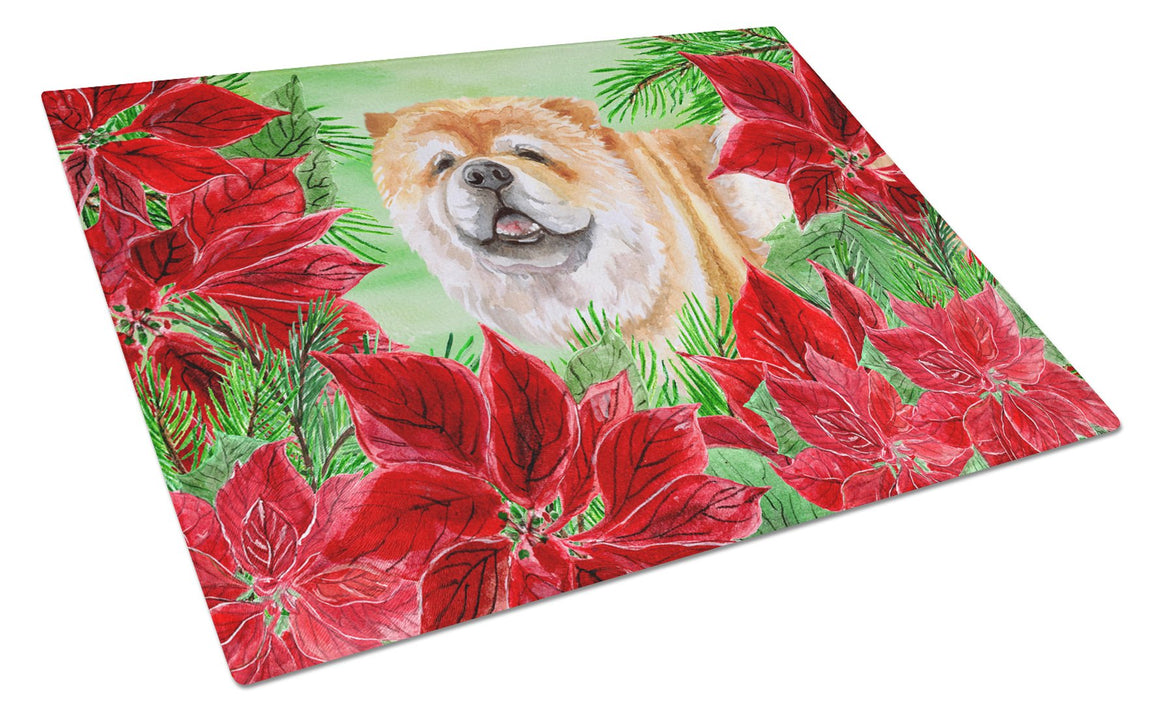Buy this Cane Corso Poinsettas Glass Cutting Board Large CK1343LCB