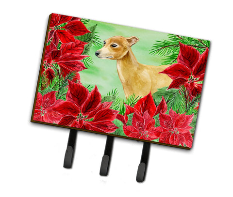 Buy this Italian Greyhound Poinsettas Leash or Key Holder CK1346TH68
