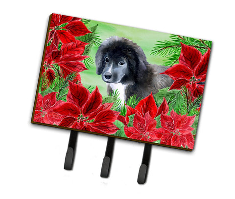 Buy this Newfoundland Puppy Poinsettas Leash or Key Holder CK1347TH68