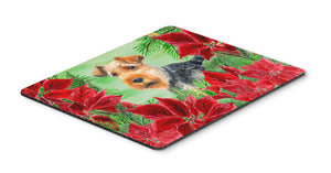Buy this Welsh Terrier Poinsettas Mouse Pad, Hot Pad or Trivet CK1348MP