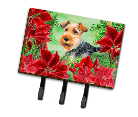 Buy this Welsh Terrier Poinsettas Leash or Key Holder CK1348TH68