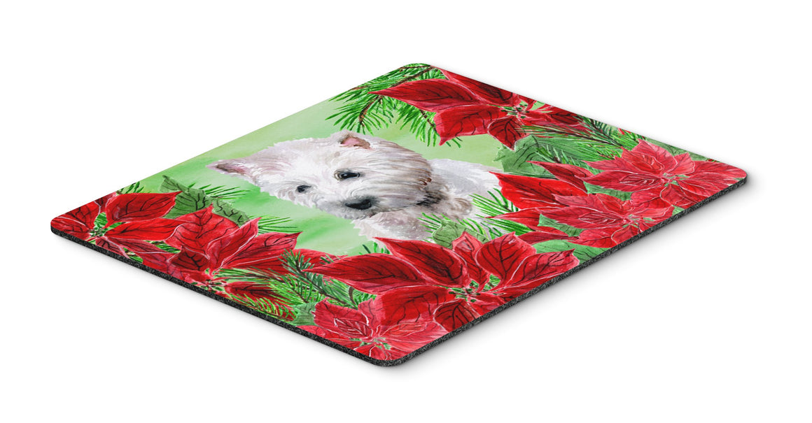 Buy this Westie Poinsettas Mouse Pad, Hot Pad or Trivet CK1349MP