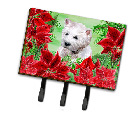 Buy this Westie Poinsettas Leash or Key Holder CK1349TH68
