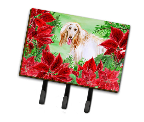 Buy this Afghan Hound Poinsettas Leash or Key Holder CK1350TH68