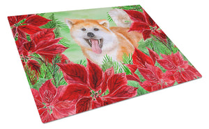 Buy this Akita Poinsettas Glass Cutting Board Large CK1351LCB