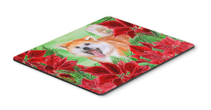 Buy this Akita Poinsettas Mouse Pad, Hot Pad or Trivet CK1351MP