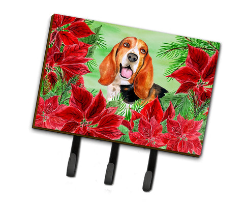 Buy this Basset Hound Poinsettas Leash or Key Holder CK1352TH68