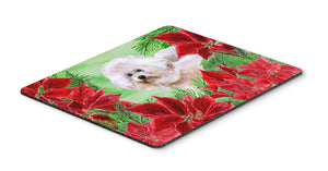 Buy this Bichon Frise #2 Poinsettas Mouse Pad, Hot Pad or Trivet CK1353MP