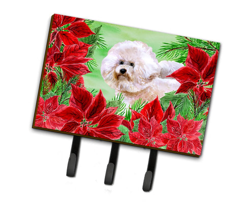 Buy this Bichon Frise #2 Poinsettas Leash or Key Holder CK1353TH68