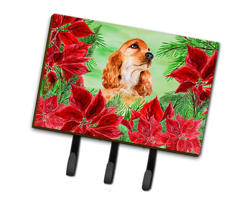 Buy this Cocker Spaniel Poinsettas Leash or Key Holder CK1354TH68