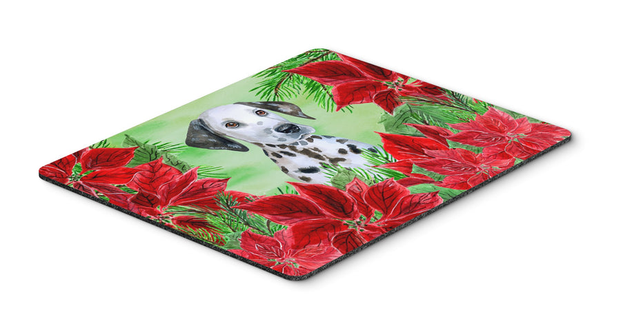 Buy this Dalmatian Puppy Poinsettas Mouse Pad, Hot Pad or Trivet CK1356MP