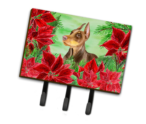 Buy this Doberman Pinscher Poinsettas Leash or Key Holder CK1357TH68
