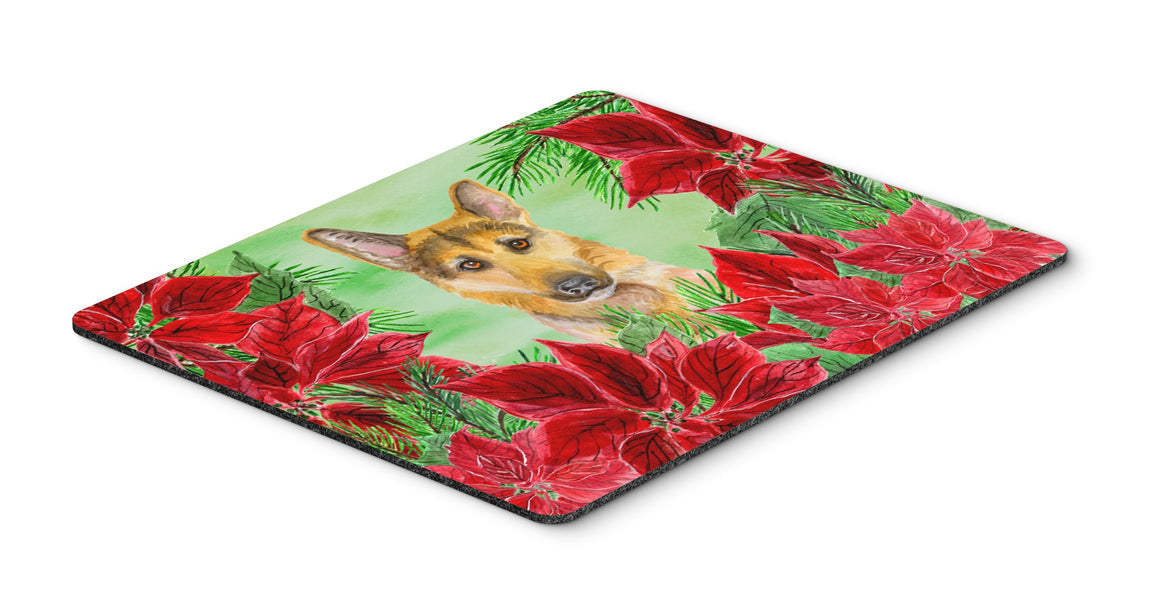 Buy this German Shepherd #2 Poinsettas Mouse Pad, Hot Pad or Trivet CK1359MP