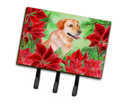 Buy this Labrador Retriever Poinsettas Leash or Key Holder CK1361TH68