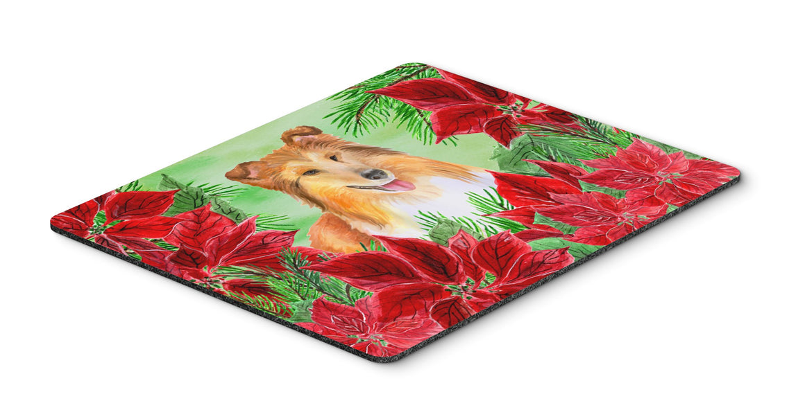 Buy this Sheltie Poinsettas Mouse Pad, Hot Pad or Trivet CK1367MP