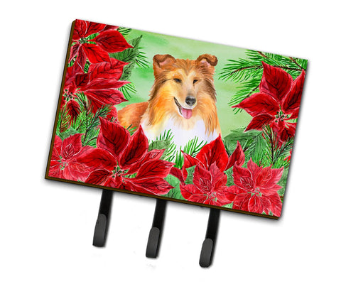 Buy this Sheltie Poinsettas Leash or Key Holder CK1367TH68