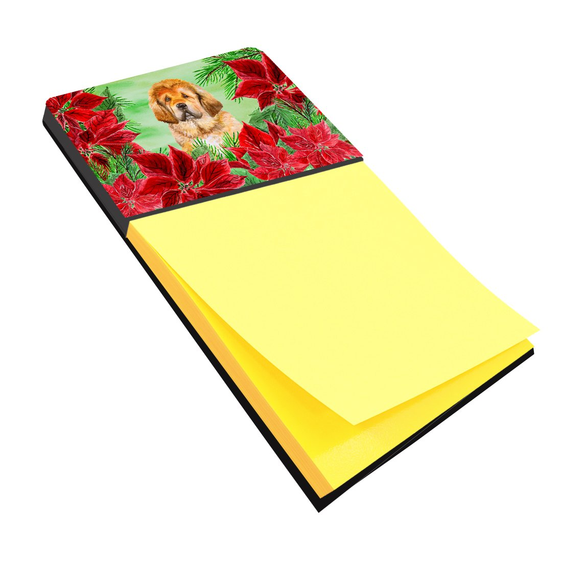 Buy this Tibetan Mastiff Poinsettas Sticky Note Holder CK1368SN