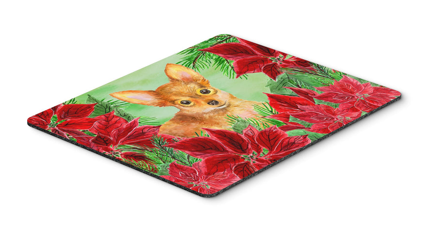 Buy this Toy Terrier Poinsettas Mouse Pad, Hot Pad or Trivet CK1369MP