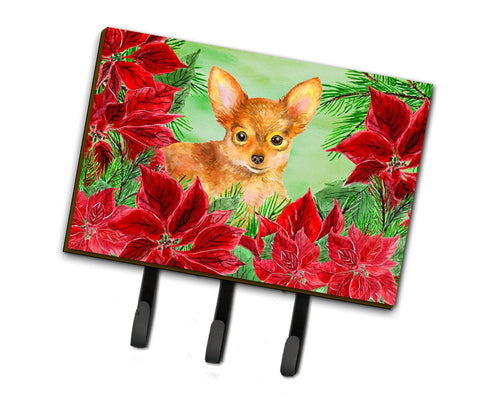 Buy this Toy Terrier Poinsettas Leash or Key Holder CK1369TH68