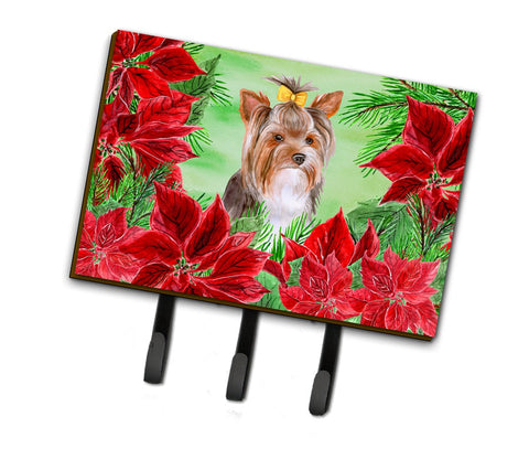 Buy this Yorkshire Terrier #2 Poinsettas Leash or Key Holder CK1370TH68