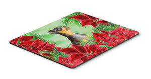 Buy this Miniature Pinscher #2 Poinsettas Mouse Pad, Hot Pad or Trivet CK1371MP