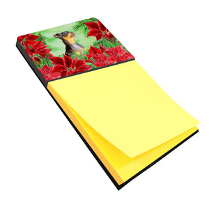 Buy this Miniature Pinscher #2 Poinsettas Sticky Note Holder CK1371SN