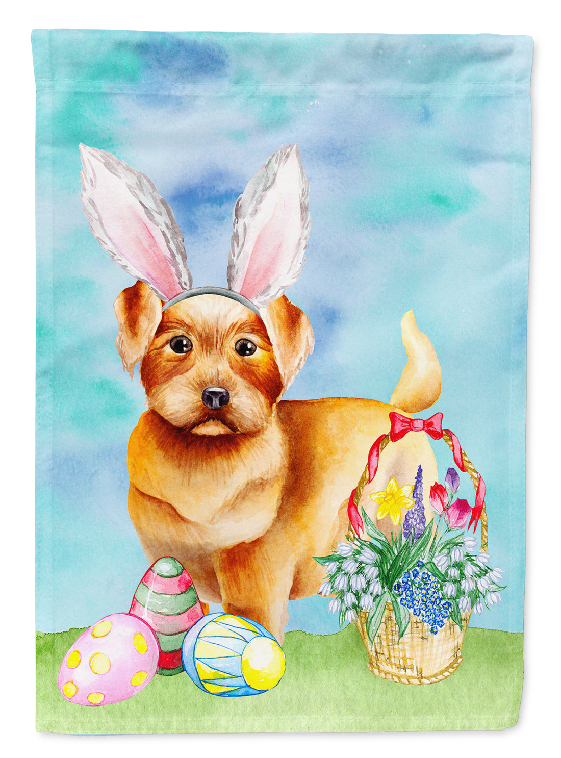 Norfolk Terrier Easter Bunny Flag Canvas House Size CK1376CHF by Caroline's Treasures