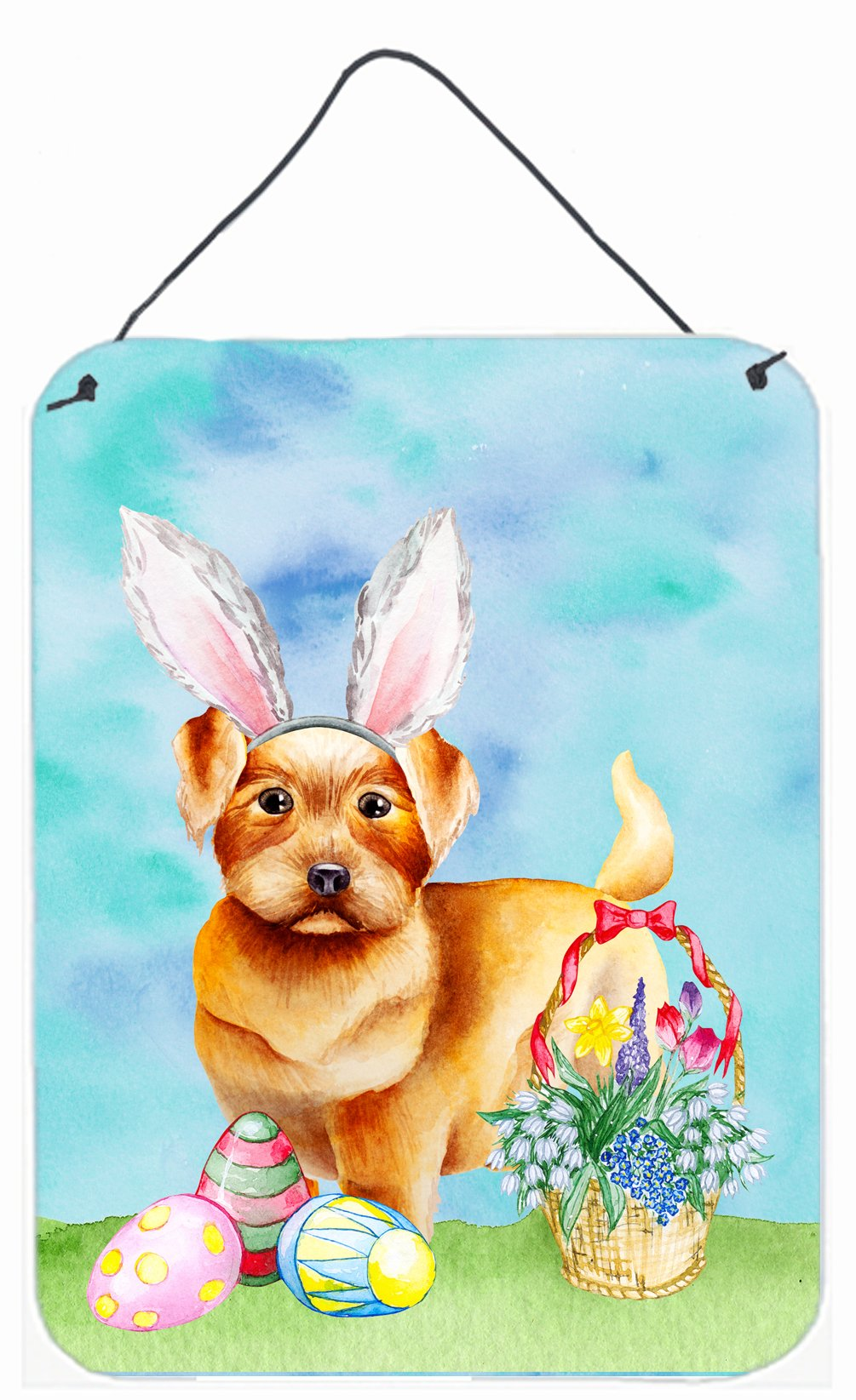 Buy this Norfolk Terrier Easter Bunny Wall or Door Hanging Prints CK1376DS1216