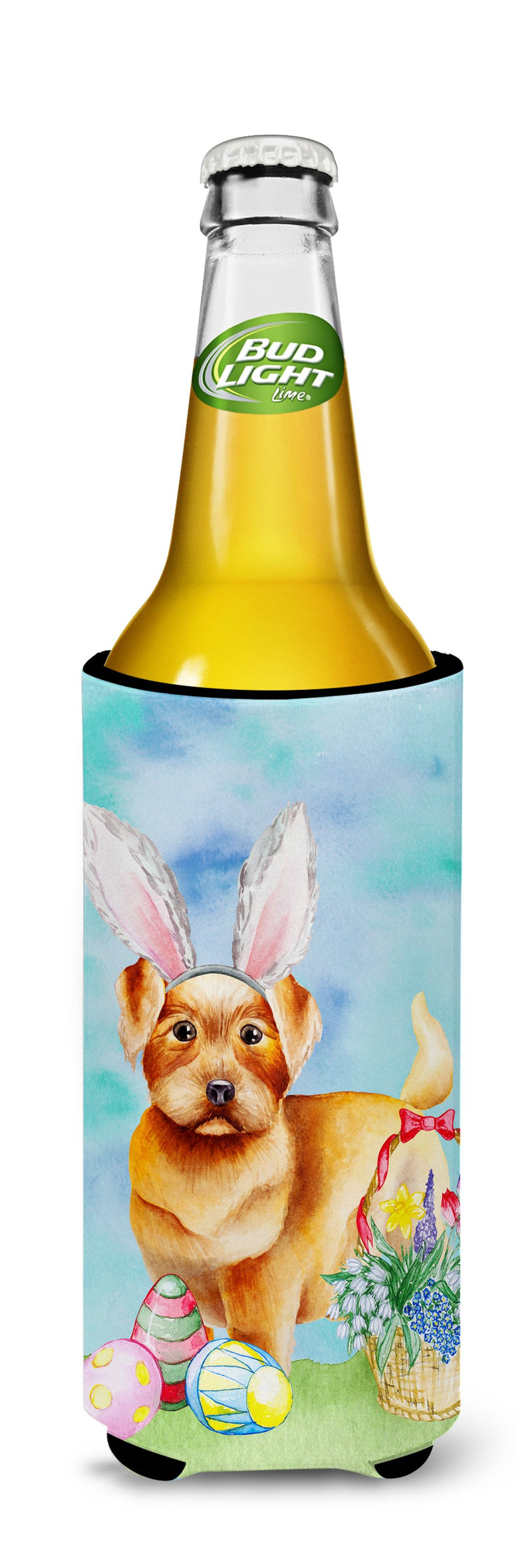 Buy this Norfolk Terrier Easter Bunny Michelob Ultra Hugger for slim cans CK1376MUK
