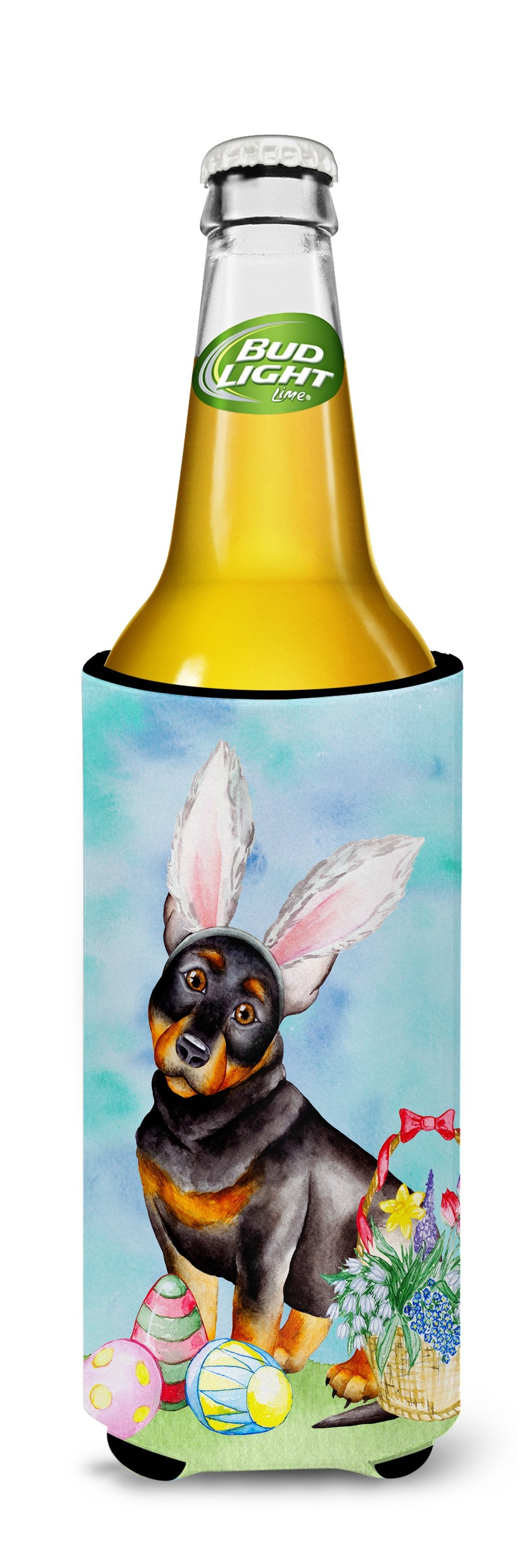 Lancashire Heeler Easter Bunny Michelob Ultra Hugger for slim cans CK1377MUK by Caroline's Treasures