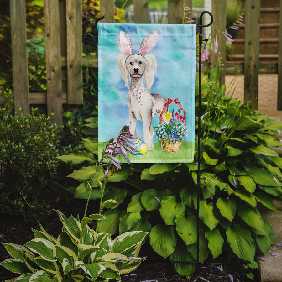 Buy this Chinese Crested Easter Bunny Flag Garden Size CK1380GF