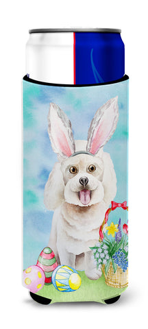 Buy this Bichon Frise Easter Bunny Michelob Ultra Hugger for slim cans CK1381MUK