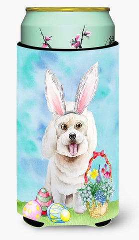 Buy this Bichon Frise Easter Bunny Tall Boy Beverage Insulator Hugger CK1381TBC