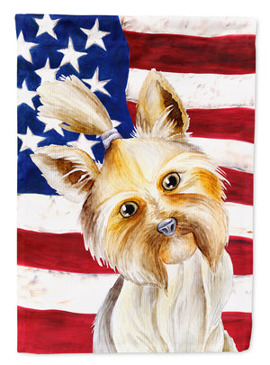 Buy this Yorkie Yorkshier Terrier Patriotic Flag Canvas House Size CK1382CHF