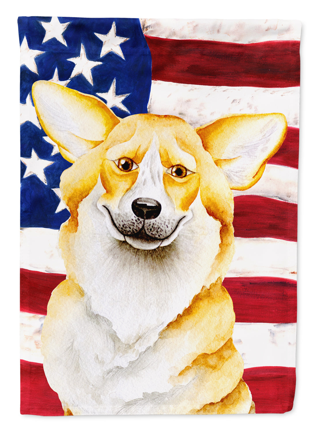 Buy this Corgi Patriotic Flag Canvas House Size CK1383CHF