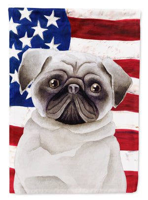 Buy this Pug Patriotic Flag Canvas House Size CK1385CHF