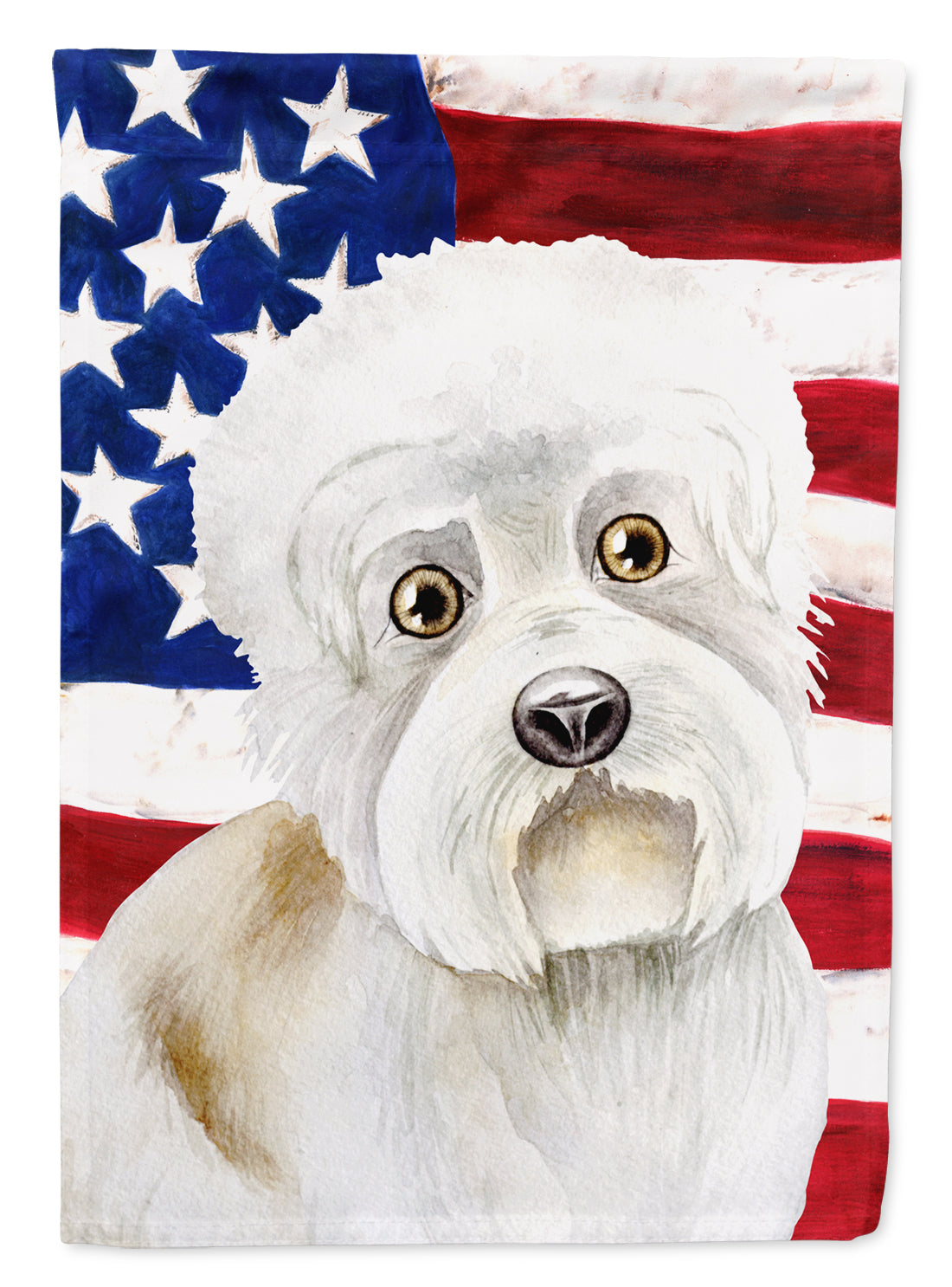 Buy this Dandie Dinmont Patriotic Flag Canvas House Size CK1386CHF